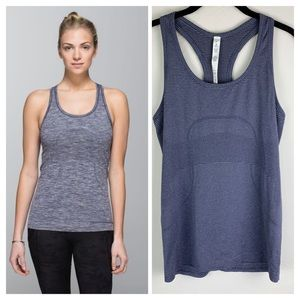 Lululemon Swiftly Tech Racerback in Heathered Blue
